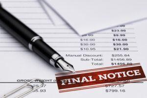 Final Notice Invoice